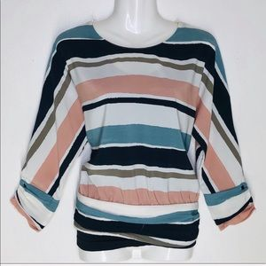 ZARA BASIC collection Striped color palette S top.